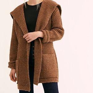 NEW Women's Brown Taffy Sweater Cardi Free People